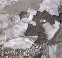 Letecký snímek přírodní rezervace